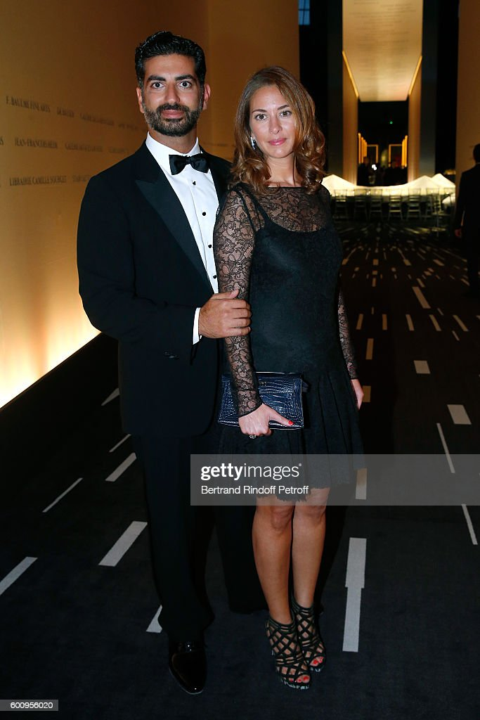Fahad Hariri and his wife Maya Hariri attend the 28th Biennale des Antiquaires : Pre-Opening at Grand Palais on September 8, 2016 in Paris, France.