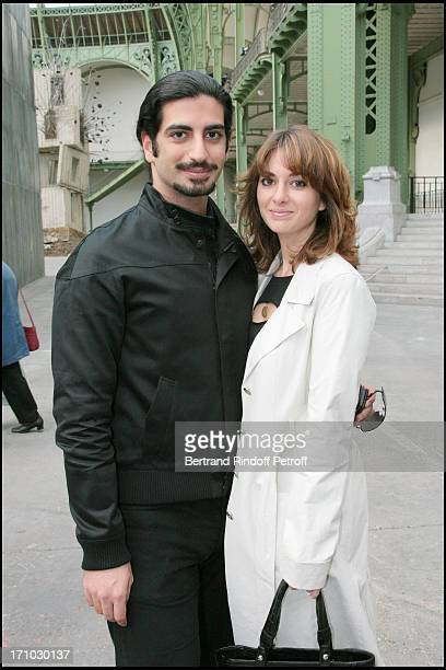 Fahed Hariri and his wife Maya 'Monumenta 2007' exhibition by Anselm Kiefer at the Grand Palais in Paris