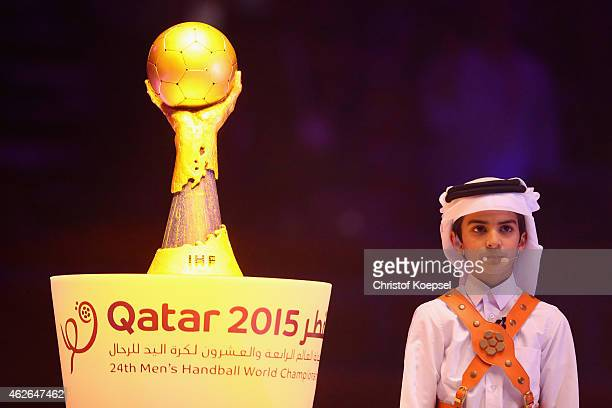 Fahed is seen during the clsoing ceremony after the final match between Qatar and France in the Men's Handball World Championship at Lusail...