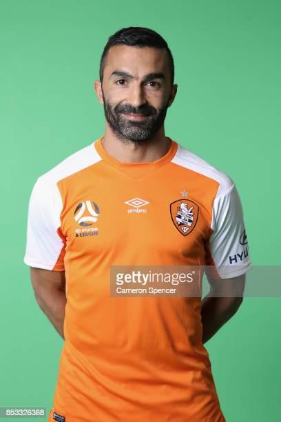 Fahid Ben Khalfallah poses during the Brisbane Roar 2017/18 ALeague Headshots Session at Fox Sports Studios on September 15 2017 in Sydney Australia
