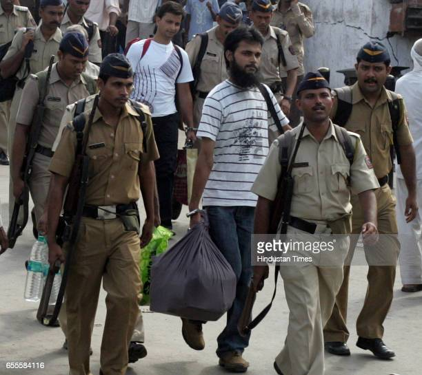 Fahim Ansari and Sabahuddin Ahmed who were acquitted in the 26/11 case at the Kurla Terminus on Wednesday They are being taken to Uttar Pradesh where...