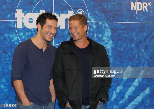 Fahri Yardim and Til Schweiger attend photocall of new Hamburg 'Tatort' at hotel 25hours on October 25 2012 in Hamburg Germany
