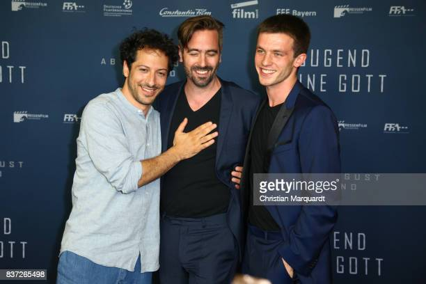 Fahri Yardim director Alain Gsponer and Jannis Niewoehner attends the premiere of 'Jugend ohne Gott' at Zoo Palast on August 22 2017 in Berlin Germany