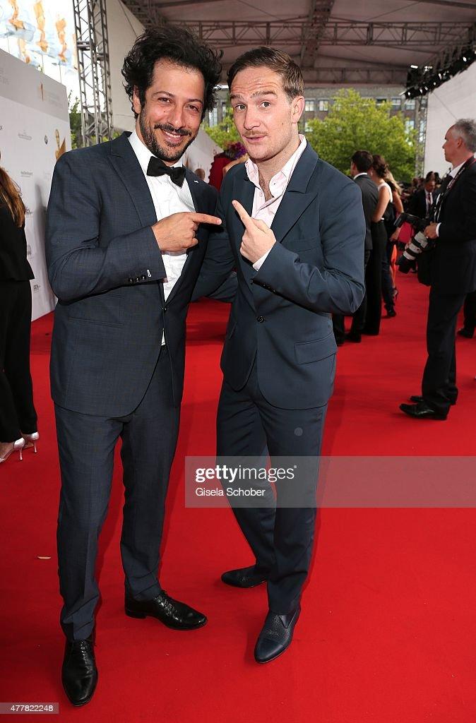 Fahri Yardim, Frederick Lau during the German Film Award 2015 Lola ( Deutscher Filmpreis ) at Messe Berlin on June 19, 2015 in Berlin, Germany.