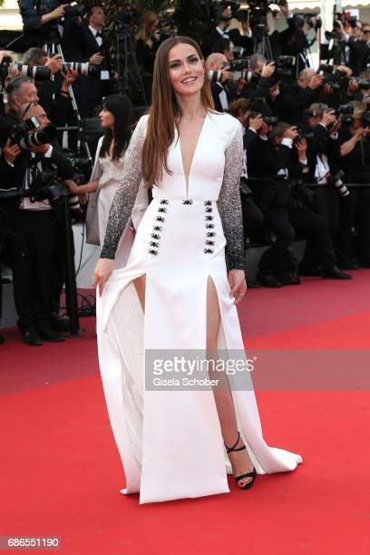 Fahriye Evcen attends the 'The Meyerowitz Stories' screening during the 70th annual Cannes Film Festival at Palais des Festivals on May 21 2017 in...