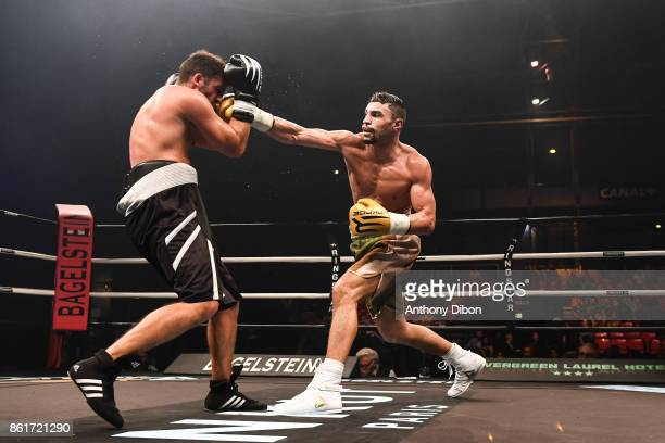 Fahrrad Saad and Guillaume Radics during the boxing event La Conquete at Zenith de Paris on October 14 2017 in Paris France