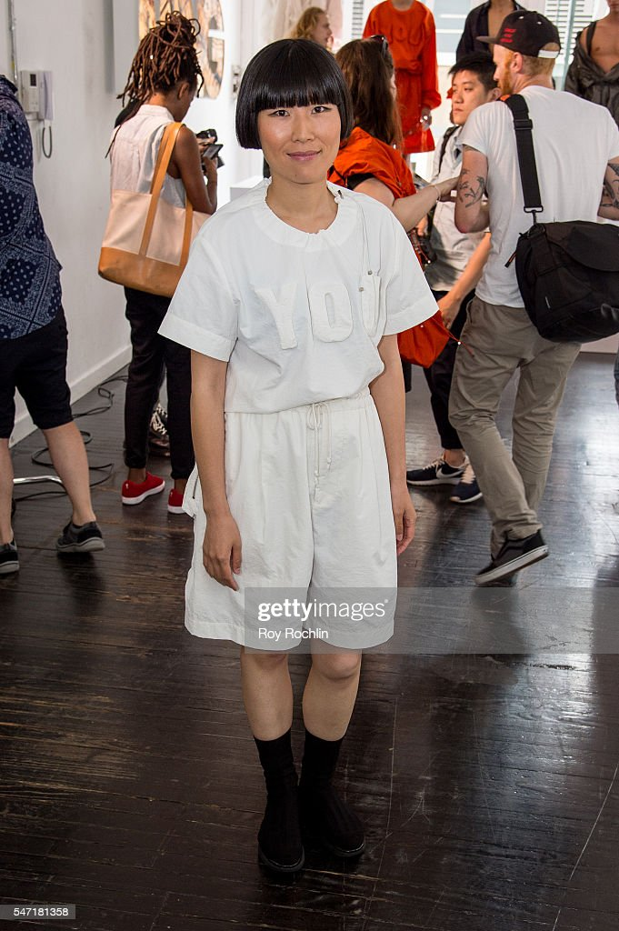 Fahsion designer Feng Chen Wang attends the Feng Chen Wang presentation during New York Fashion Week Men's S/S 2017 on July 13 2016 in New York City