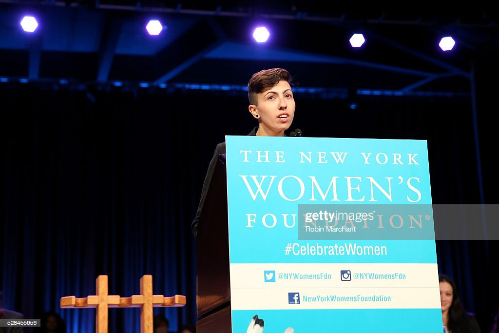 Faigy Gelbstein speaks on stage during The New York Women's Foundation's 2016 celebration womens breakfast on May 5, 2016 in New York City.