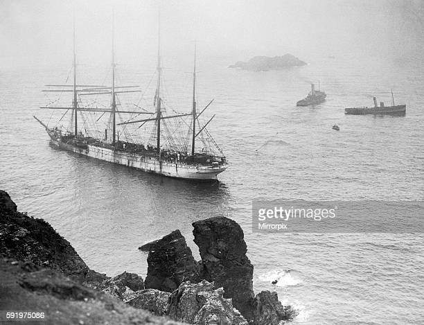A failed attempt to refloat Herzogin Cecilie off the rocks with two tugs near Salcombe Devon June 10th 1936