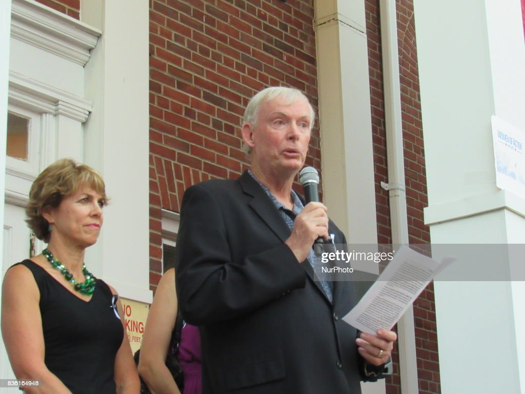 Fair Lawn Mayor John Cosgrove during a Women of Action New Jersey Rally for Unity and Peace with Mayor, Councilwoman, full Borough Council and religious leaders in Fair Lawn, NJ on August 20, 2017.