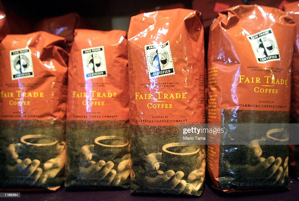 Fair Trade Coffee is on sale at Starbucks October 24 2001 in New York City