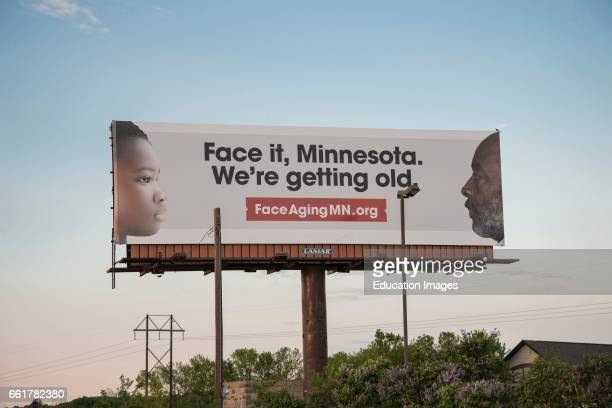 Fairbault Minnesota Billboard on aging in Minnesota A campaign to create awareness of Minnesota's growing aging population