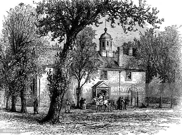 Fairfax Courthouse Virginia c1880 The oldest building in the town of Fairfax the courthouse was used as a military headquarters by the Union Army...