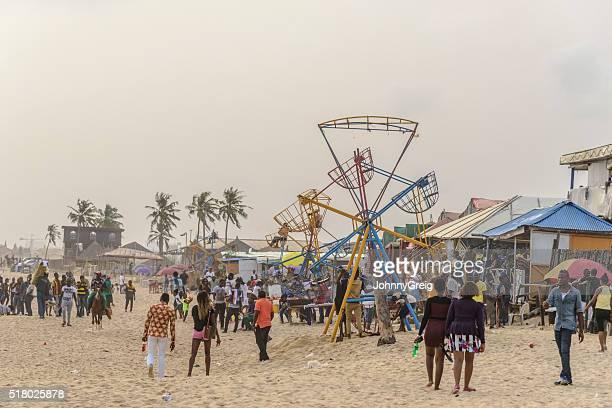 Fairground at Elugushi Beach, Lagos, Nigeria