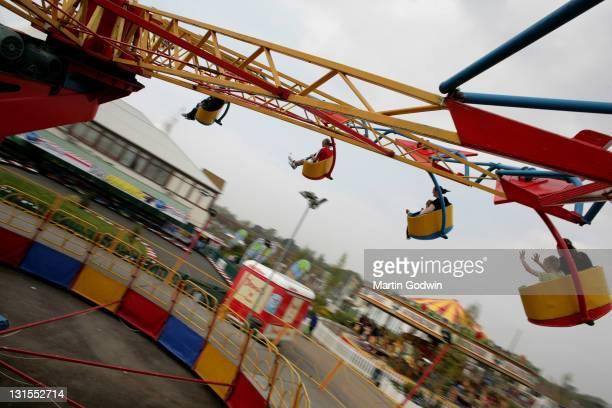 Fairground ride Butlins holiday camp Bognor Regis 21st April 2009