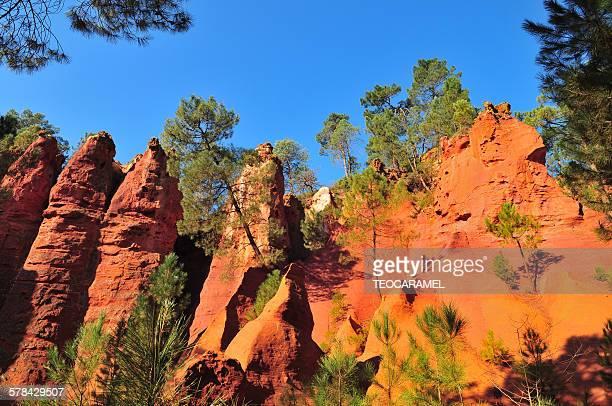 Fairies' chimneys in Ochre of Roussillon