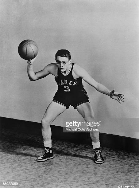 Fairmount High Quakers basketball player James Dean poses for a portrait circa 1948 in Fairmount Indiana