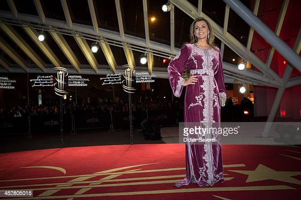 Fairouz attends the 'Hirozaku Koreeda' evening at 13th Marrakech International Film Festival on December 1 2013 in Marrakech Morocco