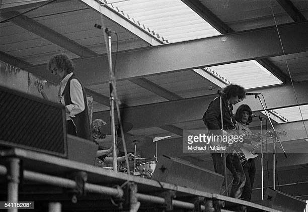 Fairport Convention playing at the Peakirk Festival in Peterborough UK 1969