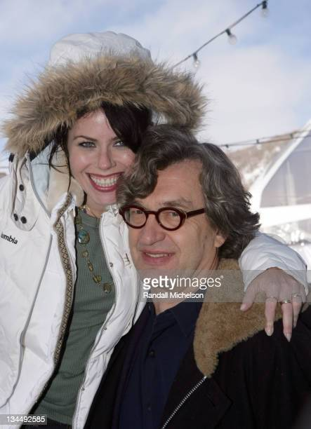 Fairuza Balk and Wim Wenders director during 2006 Sundance Film Festival 'Don't Come Knocking' Outdoor Portraits in Park City Utah United States
