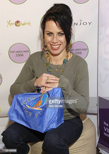 Fairuza Balk with Eco Pouch at East Meets West Virtual Spa