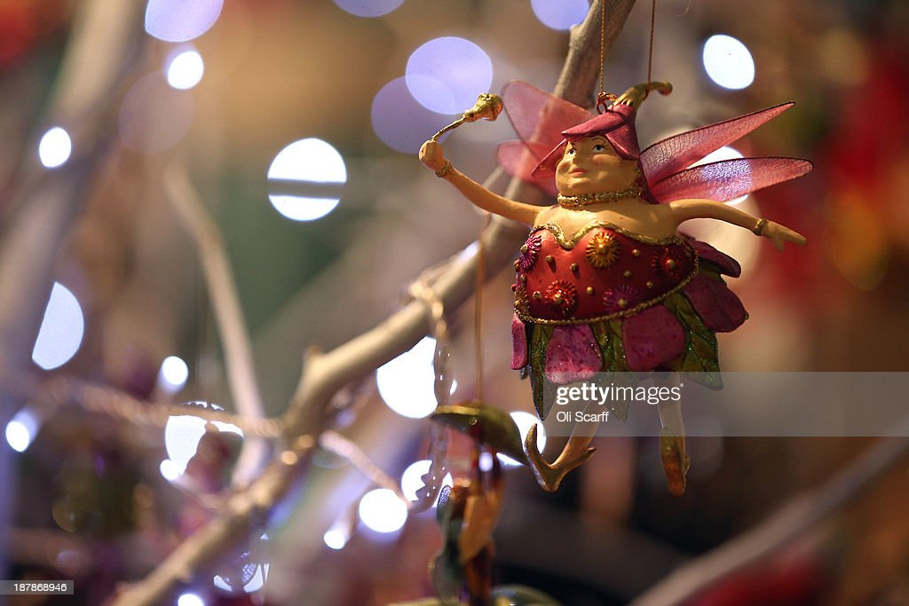 A fairy Christmas tree decoration for sale at the 'Ideal Home Show at Christmas' on November 13, 2013 in London, England. Over 80,000 visitors are expected to attend the 5 day event which showcases a range of gift ideas for Christmas in the Earls Court exhibition centre.
