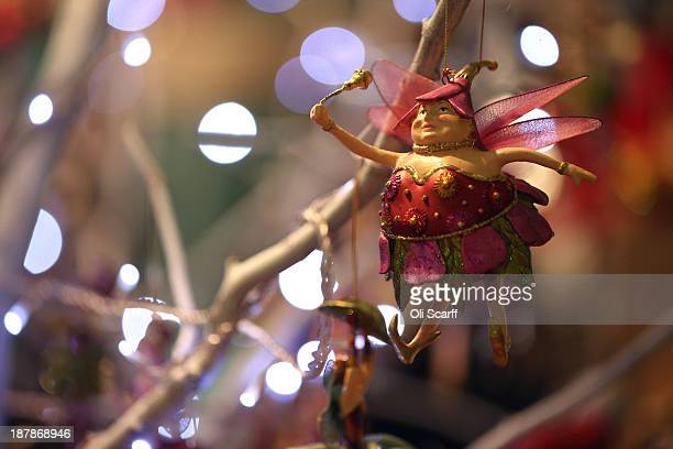 A fairy Christmas tree decoration for sale at the 'Ideal Home Show at Christmas' on November 13 2013 in London England Over 80000 visitors are...