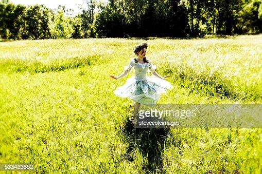 Fairy Dancing in Field