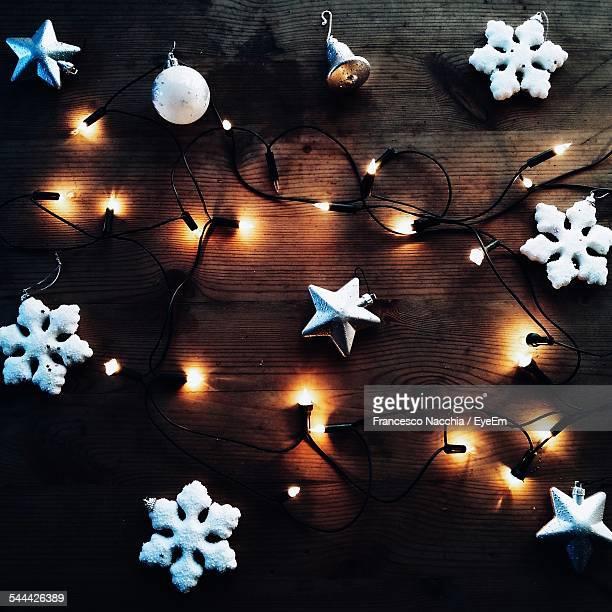 Fairy Lights And Christmas Decorations