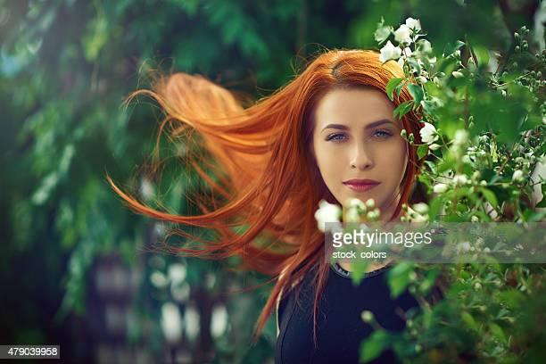 fairy red hair woman