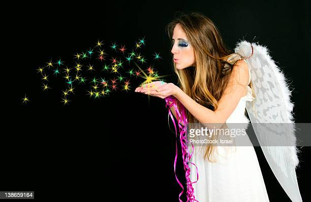 Fairy scatters fairy dust