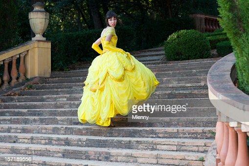 fairy tale beautiful girl lost her shoe