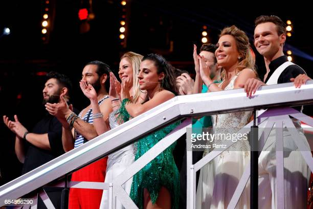Faisal Kawusi Massimo Sinato Cheyenne Pahde Susi Kentikian Chiara Ohoven and Vadim Garbuzov are seen during the 1st show of the tenth season of the...