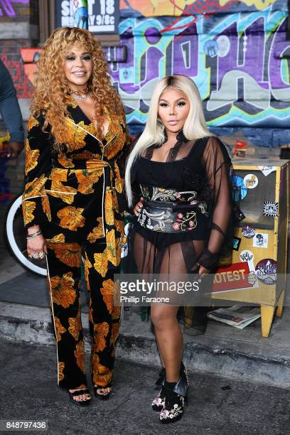 Faith Evans and Lil Kim attend VH1's Hip Hop Honors The 90's Game Changers at Paramount Studios on September 17 2017 in Hollywood California