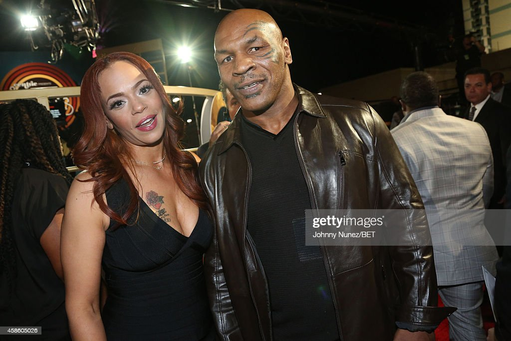 Faith Evans and Mike Tyson attend 2014 Soul Train Music Awards on November 7, 2014 in Las Vegas, Nevada.