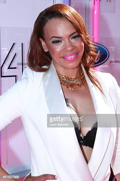 Faith Evans arrive at the BET Make A Wish Foundation Recipient Wish To Attend BET Awards Red Carpet Arrivals on June 29 2014 in Los Angeles California