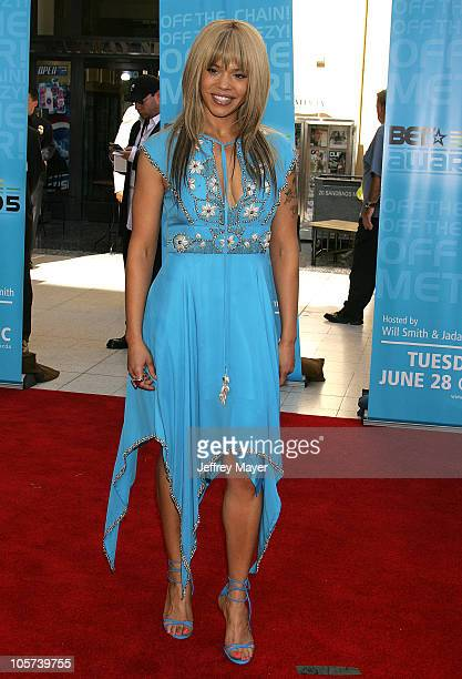 Faith Evans during 2005 BET Awards Arrivals at Kodak Theatre in Hollywood California United States