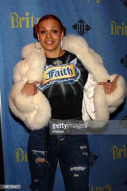 Faith Evans during Britney Spears Album Release Party for 'Britney' at CentroFly November 6 2001 at CentroFly in New York City New York United States