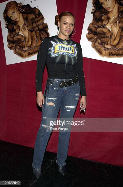 Faith Evans during Faith Evans in store appearance at Virgin Mega Store in Times Square in New York City New York United States