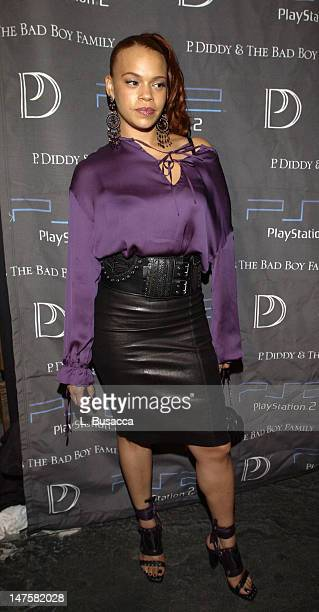 Faith Evans during 'P Diddy The Bad Boy FamilyThe Saga Continues' CD Release Party Sponsored By PlayStation 2 at Tao Club in New York New York United...