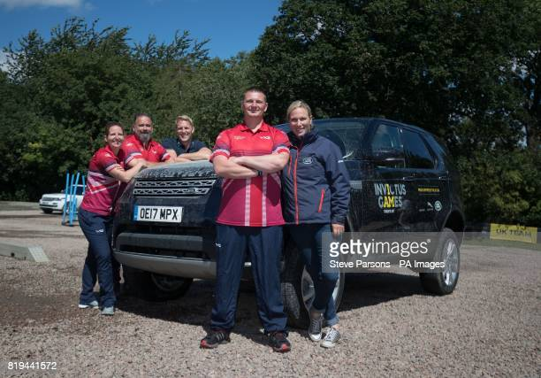 Faith Fordham Olaf Jones Lewis Moody Gareth Paterson and Zara Tindall during the Jaguar Land Rover Driving Challenge at the Land Rover Experience at...