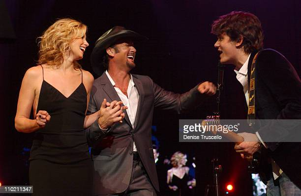 Faith Hill and husband Tim McGraw and John Mayer during The Andre Agassi Charitable Foundation's 9th Annual 'Grand Slam for Children' Fundraiser Show...