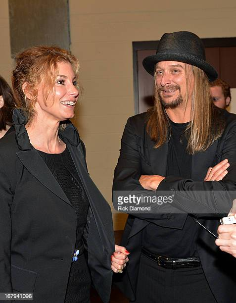 Faith Hill and Kid Rock attend the funeral service for George Jones at The Grand Ole Opry on May 2 2013 in Nashville Tennessee Jones passed away on...