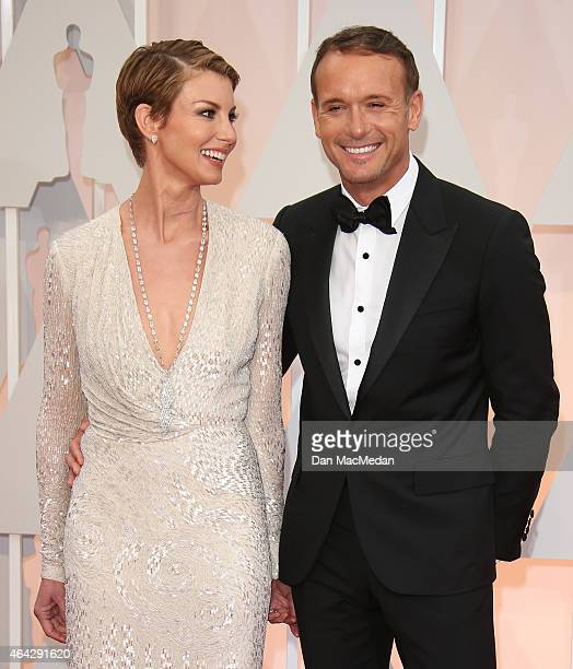 Faith Hill and Tim McGraw arrive at the 87th Annual Academy Awards at Hollywood Highland Center on February 22 2015 in Los Angeles California