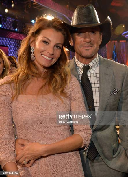 Faith Hill and Tim McGraw attend CMT Artists Of The Year 2013 at Music City Center on December 3 2013 in Nashville Tennessee