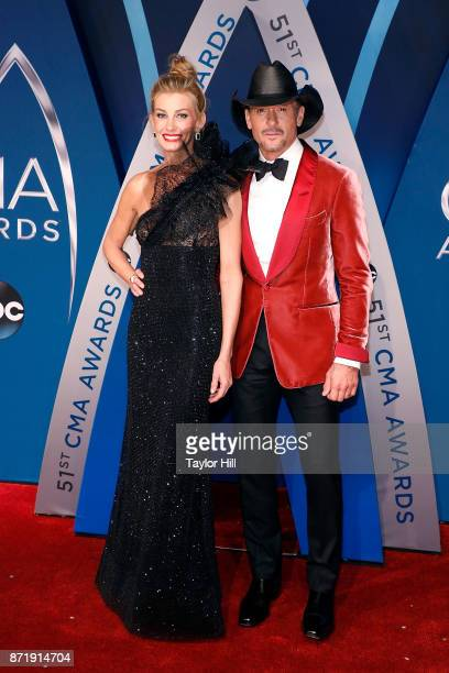 Faith Hill and Tim McGraw attend the 51st annual CMA Awards at the Bridgestone Arena on November 8 2017 in Nashville Tennessee
