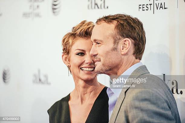 Faith Hill and Tim McGraw attend the 'Dixieland' Premiere during the 2015 Tribeca Film Festival at SVA Theater on April 19 2015 in New York City