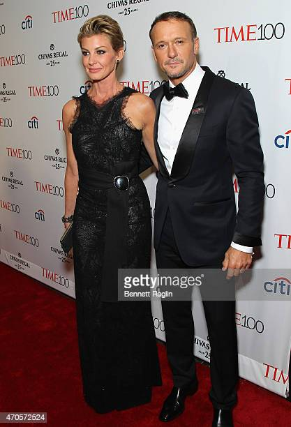 Faith Hill and Tim McGraw attend the TIME 100 Gala TIME's 100 Most Influential People In The World at Jazz at Lincoln Center on April 21 2015 in New...