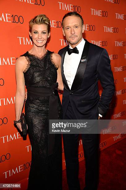 Faith Hill and Tim McGraw attend TIME 100 Gala TIME's 100 Most Influential People In The World at Jazz at Lincoln Center on April 21 2015 in New York...