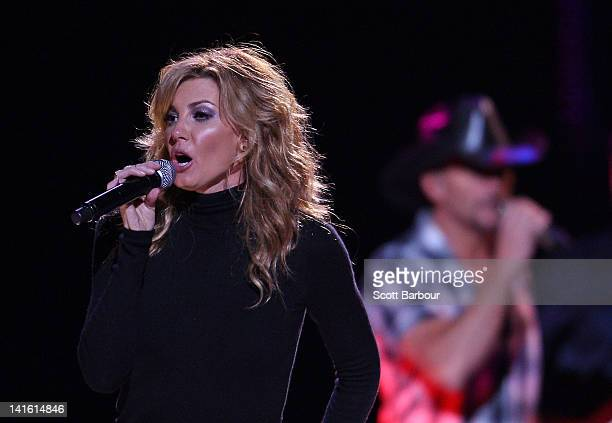 Faith Hill and Tim McGraw perform live on stage at Rod Laver Arena on March 20 2012 in Melbourne Australia